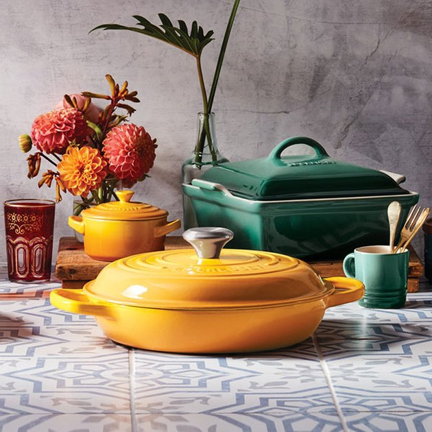 Le Creuset Nectar and Artichaut cookware collection