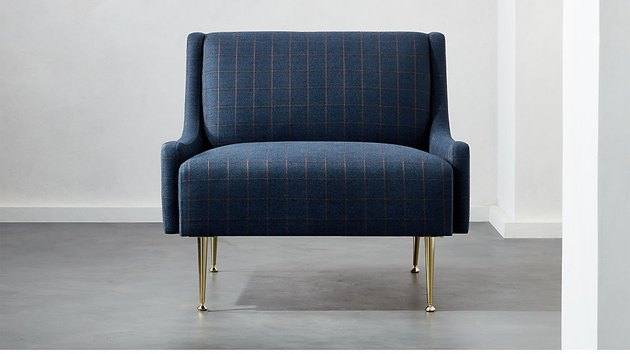 CB2 Regent Plaid Wingback Chair, $949