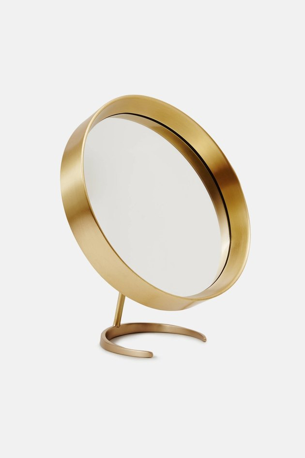 Tenfold New York Brass Tabletop Mirror