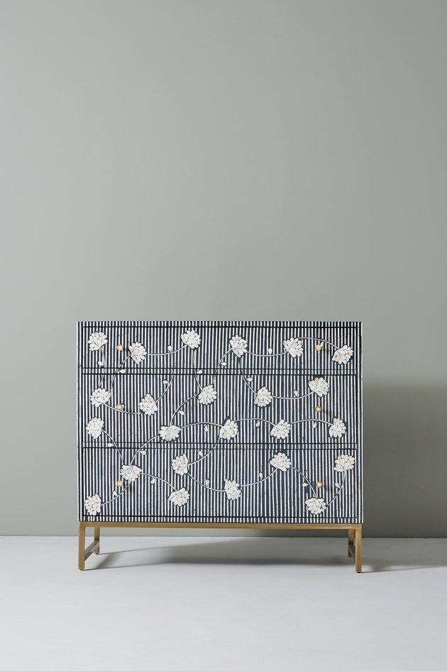 black-and-white dresser