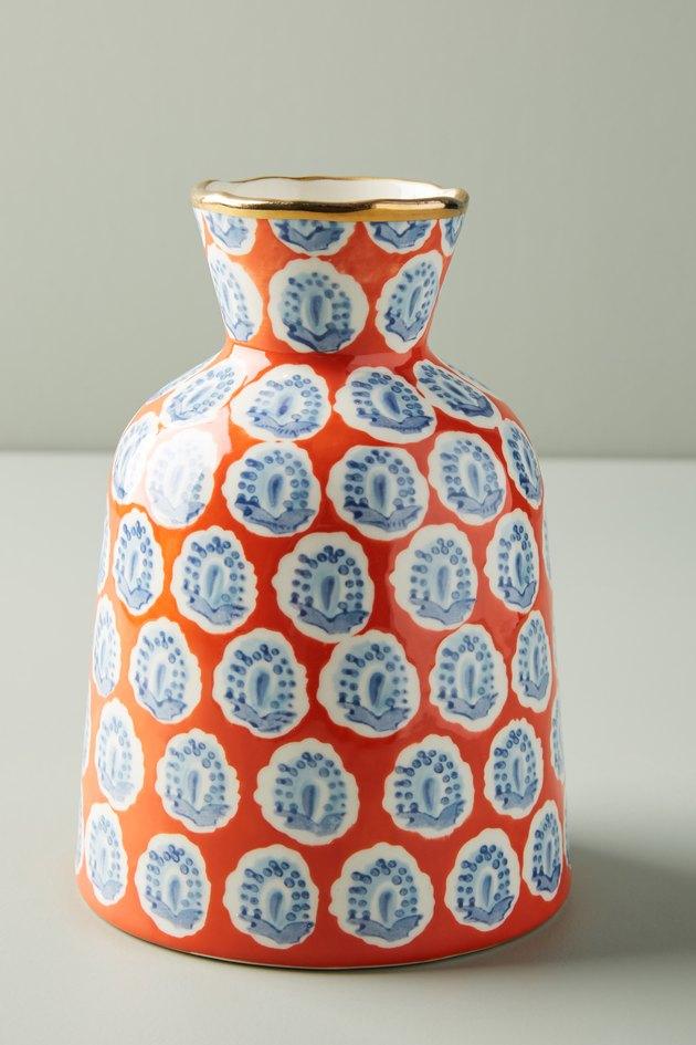 spotted orange vase