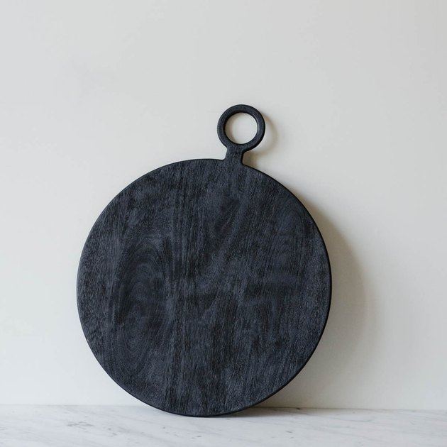 June black serving board
