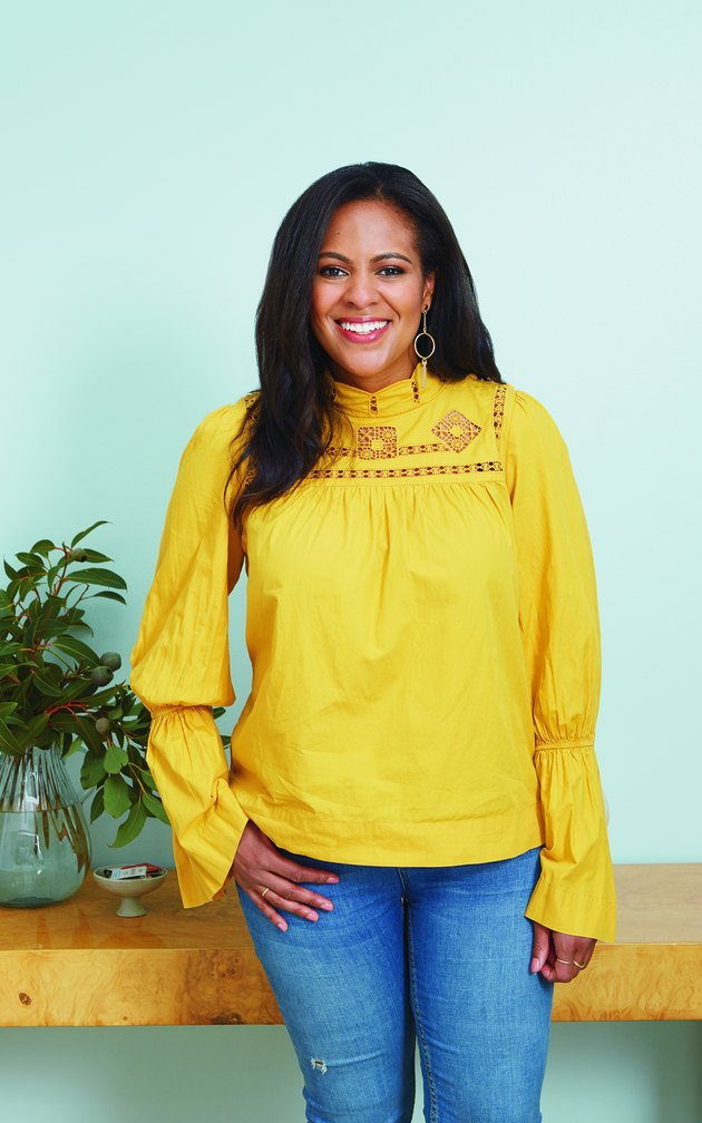 woman with yellow shirt