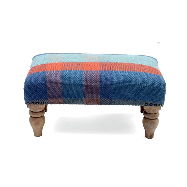 Herat Oriental Cotton Upholstered Footstool, $94.94