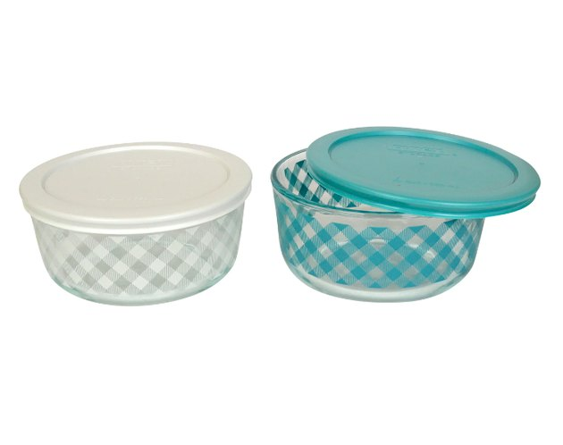 Pyrex Checkered Plaid Glass Food Storage Container Set, $21.99