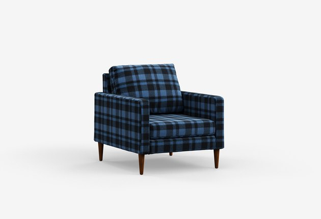 Campaign Modern Chair in Woolrich Fabric, $995