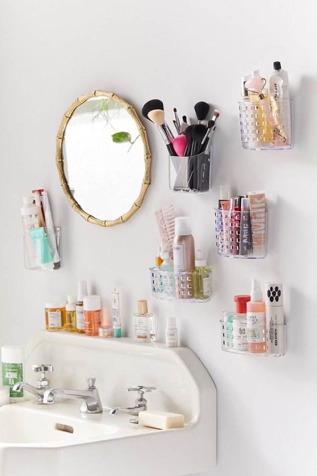 wall mounted bathroom storage solutions