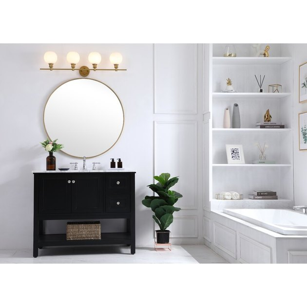 bathroom vanity light with glass shades