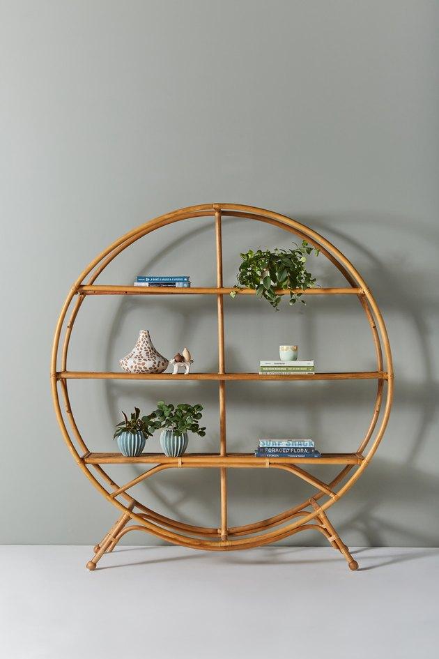 round bamboo bookshelf