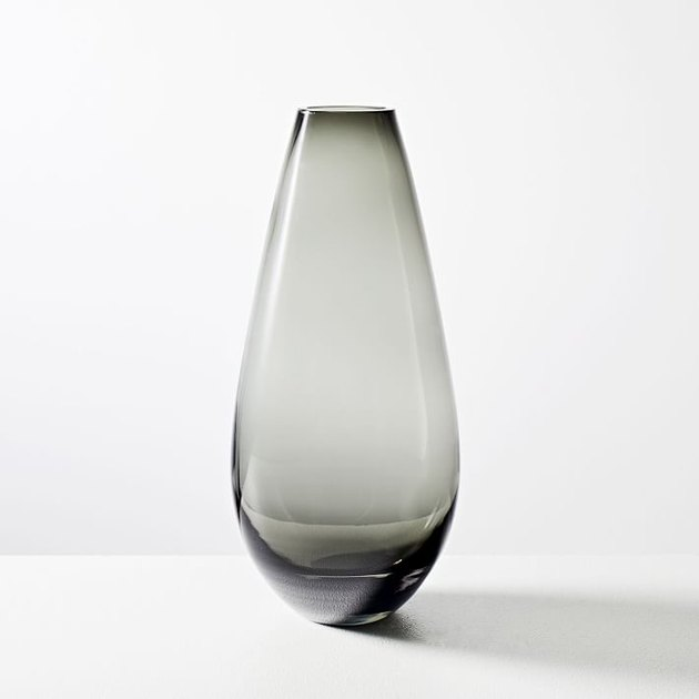 gray glass vase