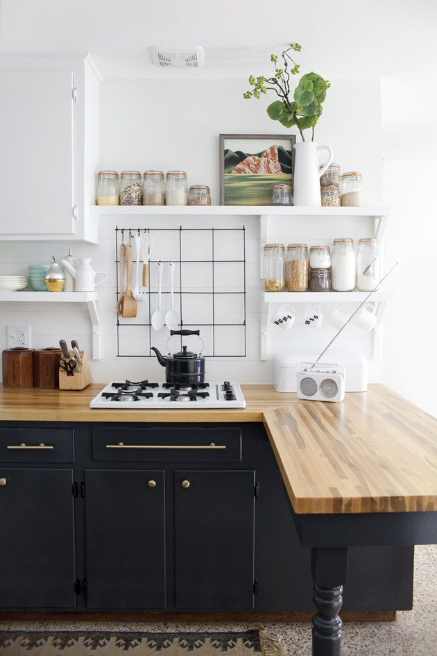 budget kitchen idea paint existing cabinets