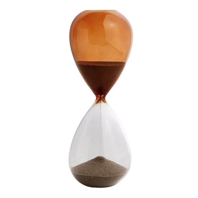 burnt orange time hourglass