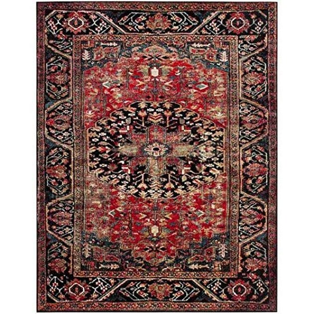 Red-dominant persian rug