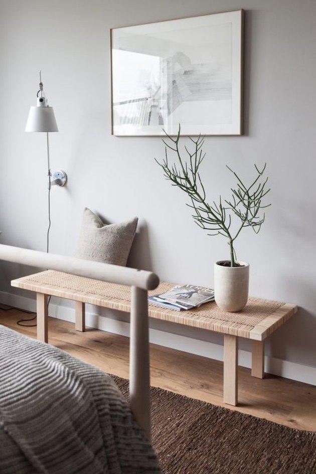 gray tone-on-tone bedroom