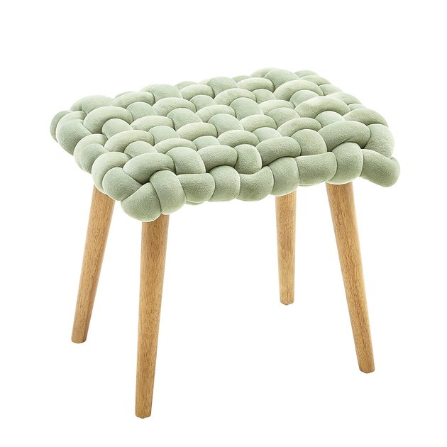 light green knotted stool