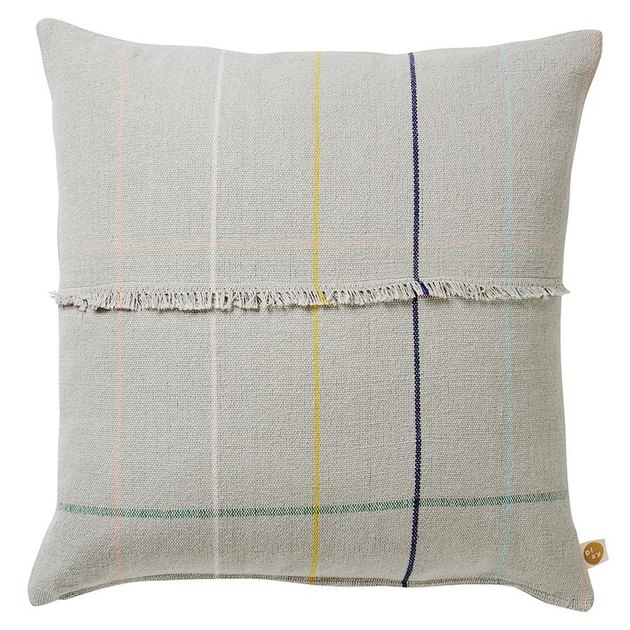 Sage x Clare Woven Check Cushion: Was $99, Now $59