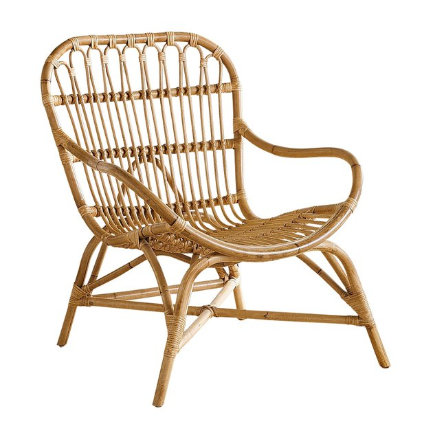 honey rattan armchair