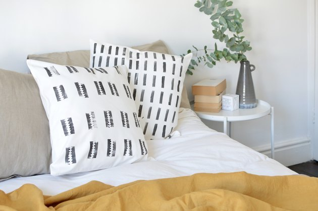 DIY bedroom idea mud cloth pillows