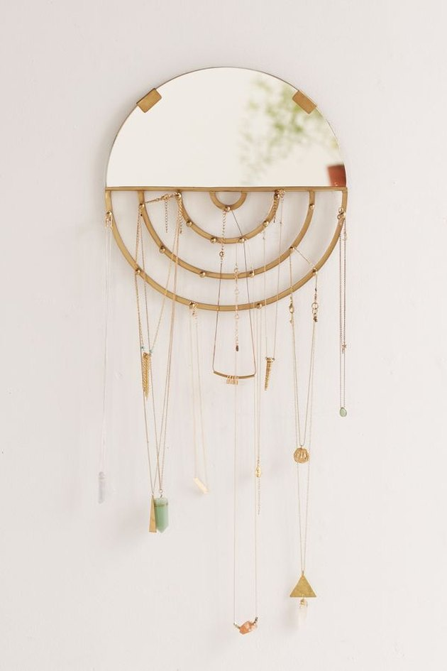 jewelry storage wall mirror