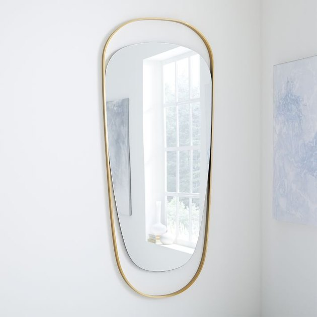 organic shaped wall mirror