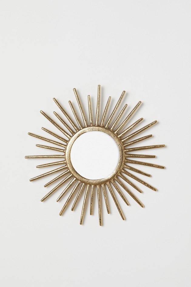 gold starburst wall mirror