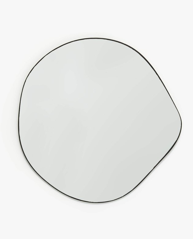 irregular organic shape wall mirror
