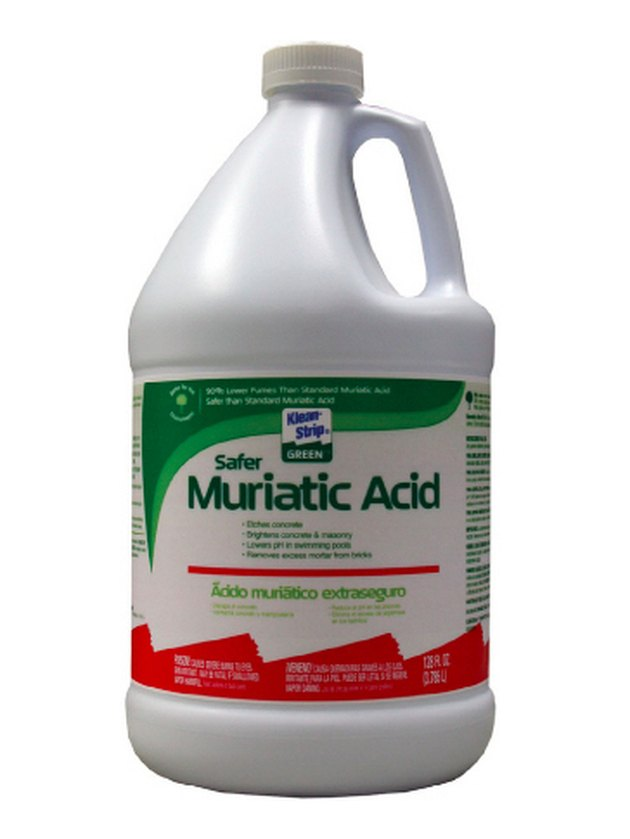 Bottle of muriatic acid.