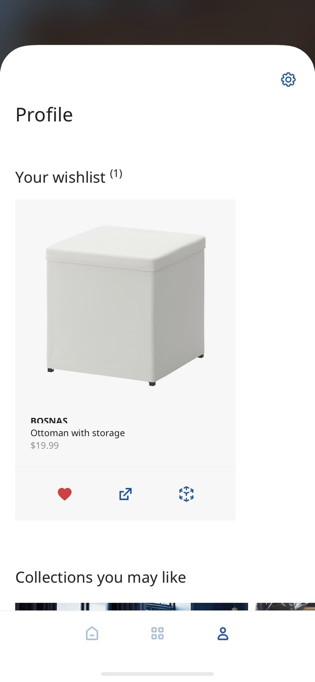 Ikea place shopping screen