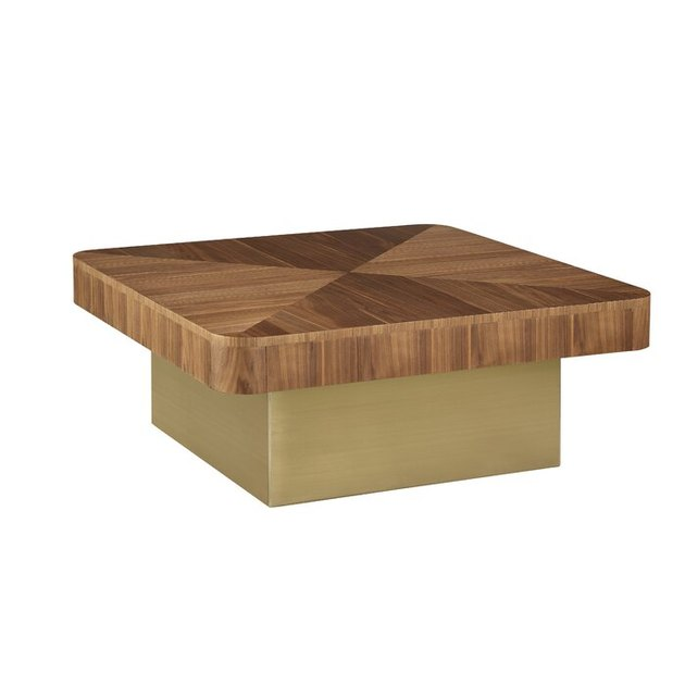 wooden square cocktail table