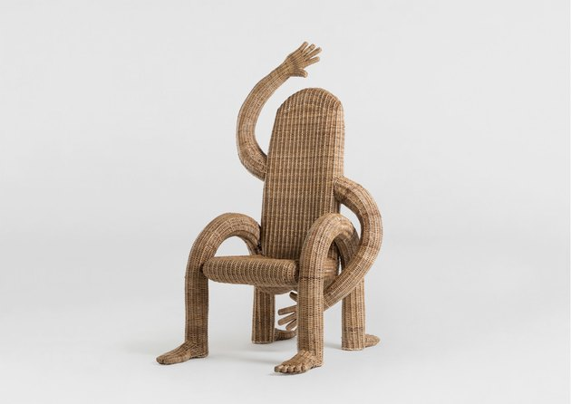 dining chair with arms and legs in human-like form