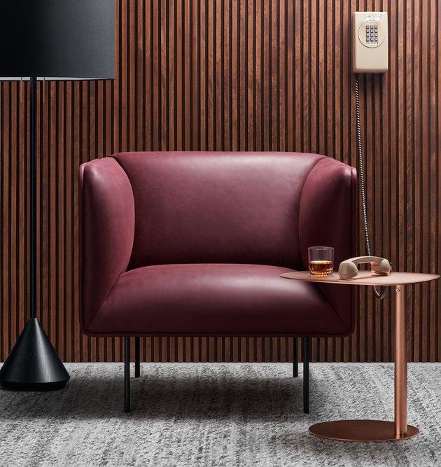 Blu Dot Oxblood Dandy Leather Lounge Chair