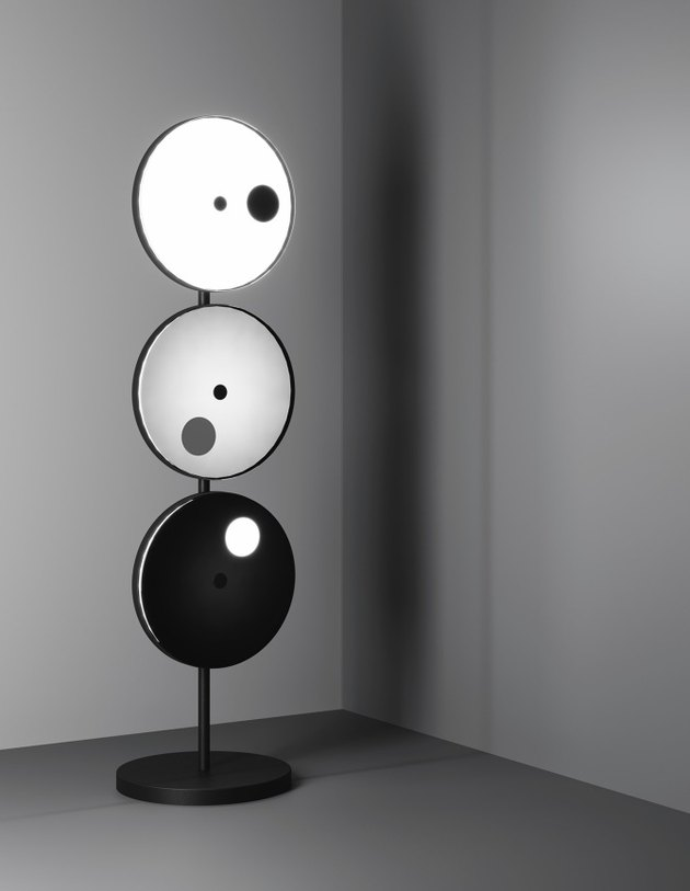 lamp made up of three round parts