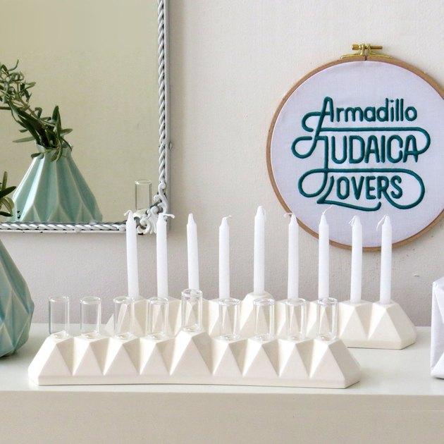 Studio Armadillo Origami Oil/Candle Menorah, $179