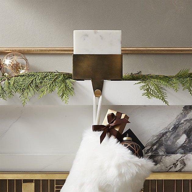 marble stocking holder