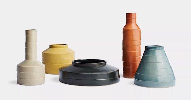 sculptural ceramic vases