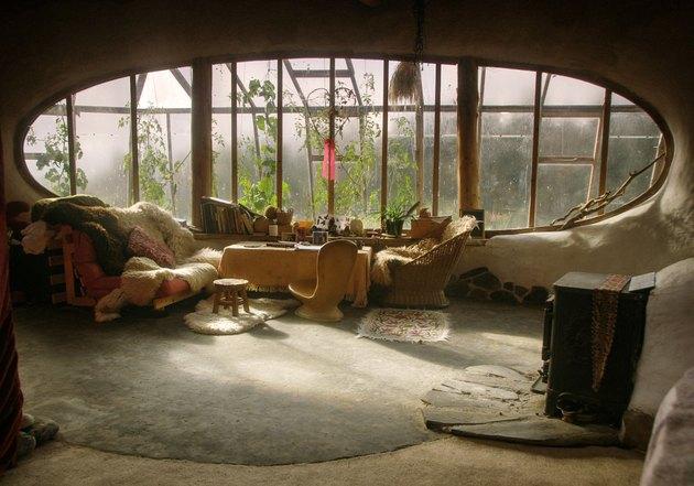 cabin interior with round window