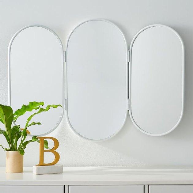 PBteen Triptych Vanity Mirror