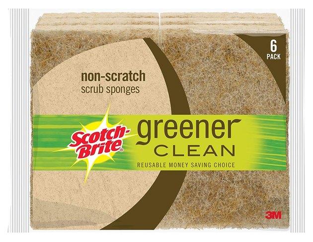 brown natural fiber scrub sponge