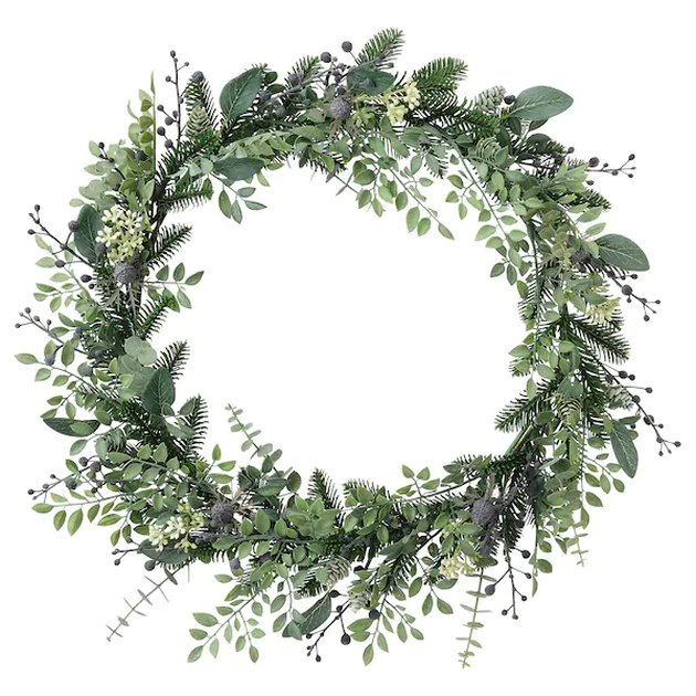 artificial green wreath