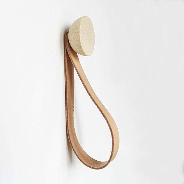 5mm Paper Round Beech Wood Wall Hook