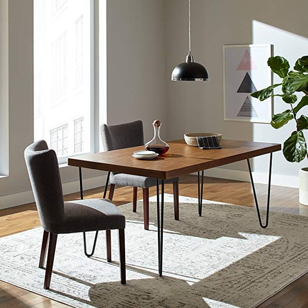Rivet Industrial Mid-Century Modern Hairpin Dining Table