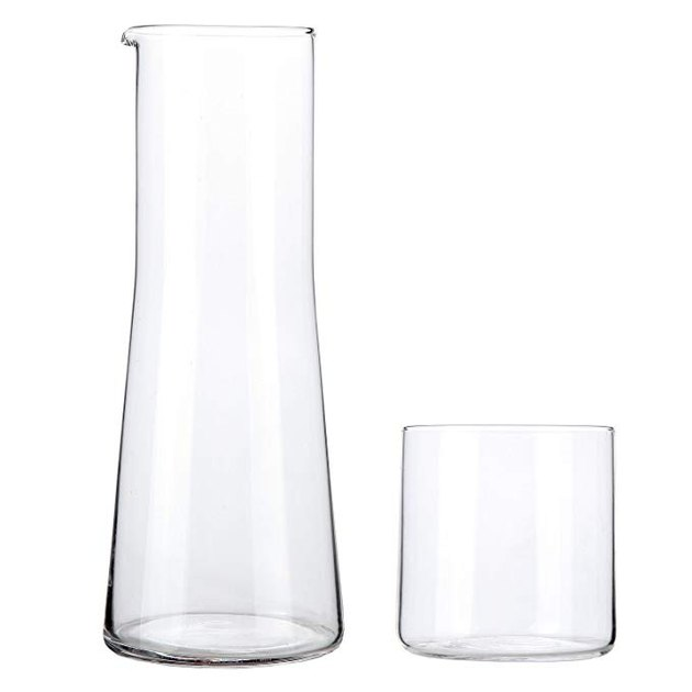 Lily's Home Bedside Water Carafe with Tumbler Glass
