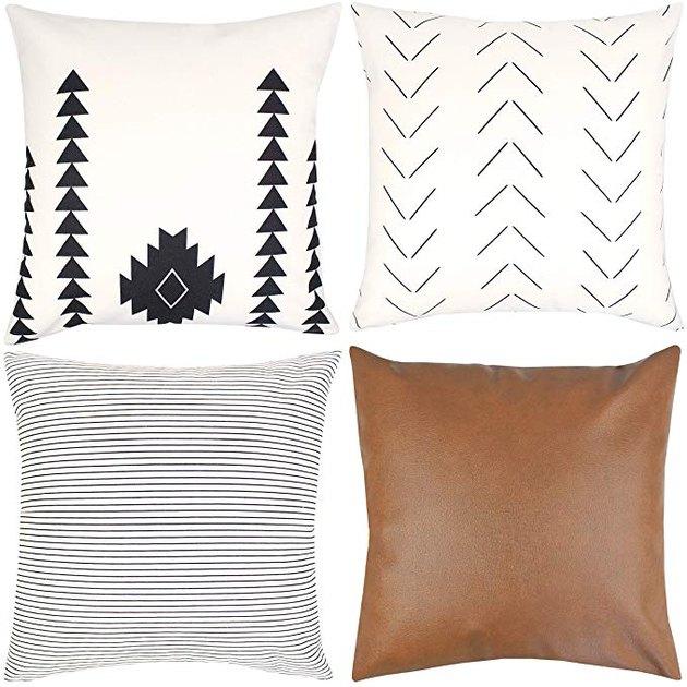 Woven Nook Decorative Throw Pillows Set of 4