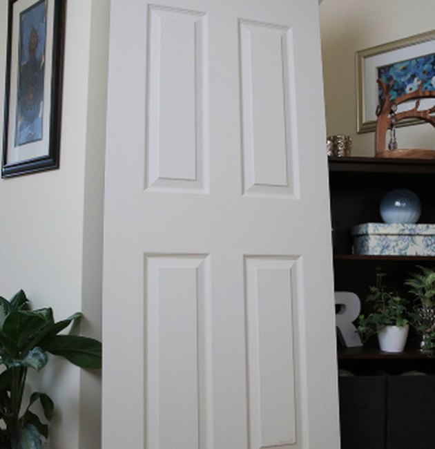 An interior passage door.