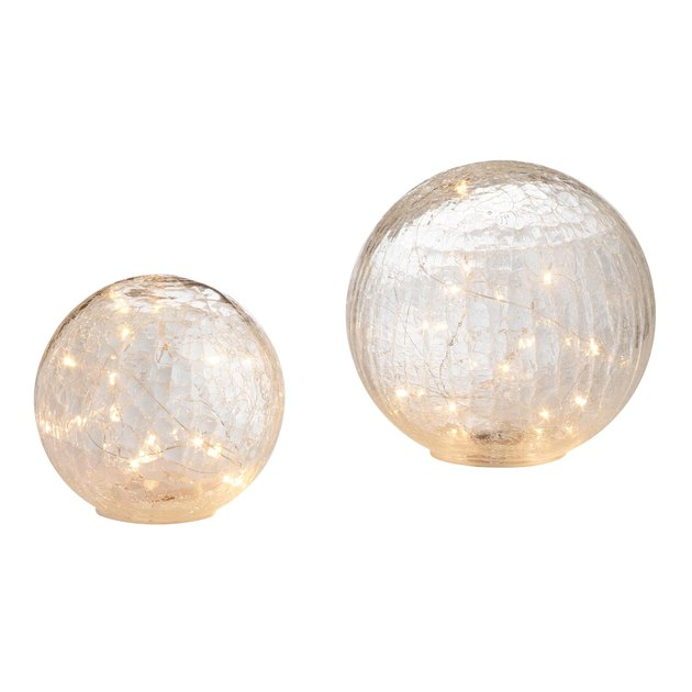 clear orbs with fairy lights