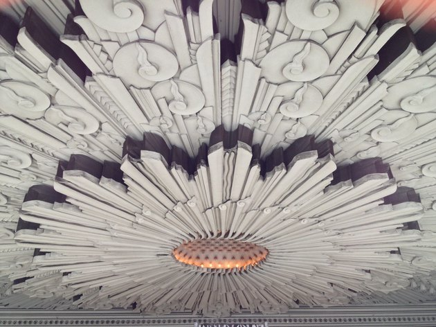 art deco style ceiling