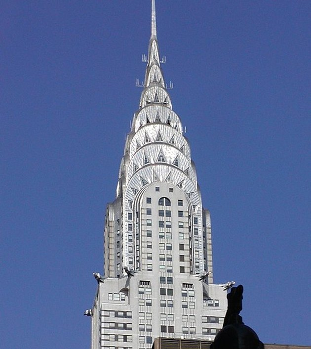 top of the Chrysler building in New York