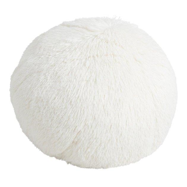round white throw pillow