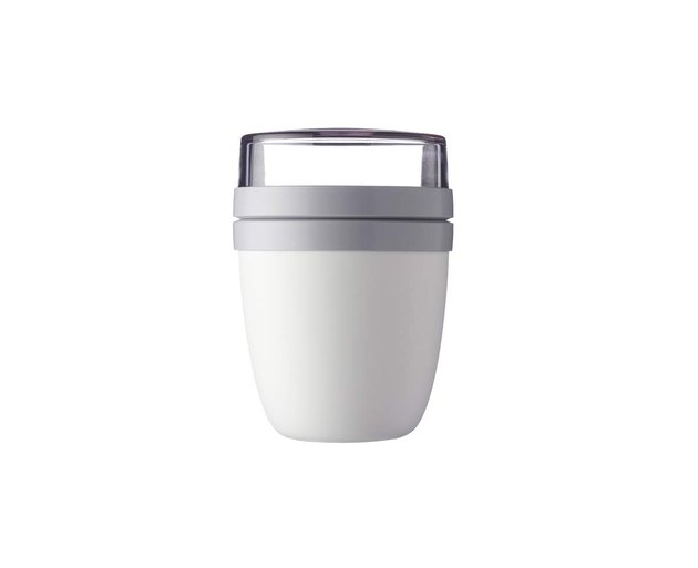 white reusable lunch pot with lid on Amazon