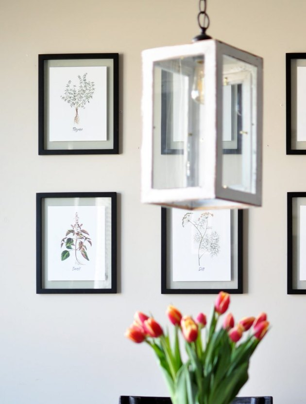 framed spring herb printables